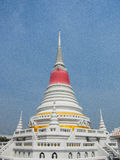 Phra Samut Chedi. The elegant white chedi locate in Samut prakan province , on the bank of Gulf of Thailand Royalty Free Stock Image