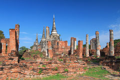 Phra si sanphet temple Royalty Free Stock Photo