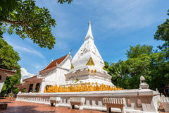 Phra That Si Song Rak, old age buddhist religion temple in Loei. Old age white temple buddhism in Dan Sai district, Loei province Thailand Royalty Free Stock Image