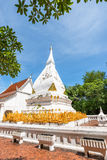 Phra That Si Song Rak, old age buddhist religion temple in Loei. Old age white temple buddhism in Dan Sai district, Loei province Thailand Royalty Free Stock Photo