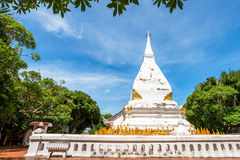 Phra That Si Song Rak, old age buddhist religion temple in Loei. Old age white temple buddhism in Dan Sai district, Loei province Thailand Royalty Free Stock Photography