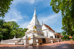 Phra That Si Song Rak, old age buddhist religion temple in Loei. Old age white temple buddhism in Dan Sai district, Loei province Thailand Royalty Free Stock Photos