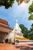 Phra That Si Song Rak, old age buddhist religion temple in Loei. Old age white temple buddhism in Dan Sai district, Loei province Thailand Stock Photos