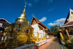 Phra Sing temple in Chiang Rai. Wat Phra Sing temple in Chiang Rai against blue sky, Thailand Stock Photos