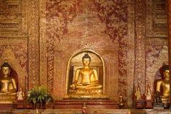 Phra Singh buddha. Phra Singh statue of Viharn Lai Kam Wat Phra Singh  of Chiang Mai Stock Photo
