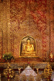Phra Singh buddha. Phra Singh statue of Viharn Lai Kam Wat Phra Singh  of Chiang Mai Royalty Free Stock Images