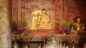Phra Singh buddha statues  ,Chiangmai Thailand. (dolly shot) stock video