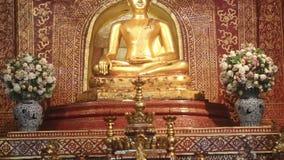 Phra Singh statue ,Chiangmai Thailand. stock footage