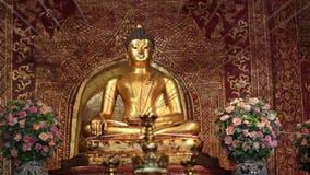 Phra Singh statue ,Chiangmai Thailand. stock video