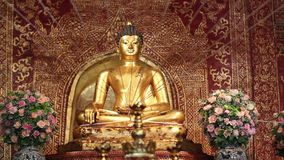 Phra Singh statue ,Chiangmai Thailand. stock video footage