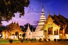 Phra Singh tempel Chiang Mai Thailand Arkivfoto