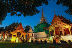 Phra singh temple at night Royalty Free Stock Images