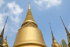 Phra Siratana chedi. Upper Terrace of King Palace in Bangkok. Royal Pavilion Mahajetsadabadin in Thailand Royalty Free Stock Images