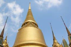 Phra Siratana chedi. Wierzchu taras królewiątko pałac w Bangkok Obrazy Royalty Free