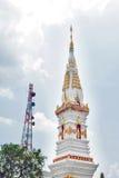 Phra som genast, en gammal thailändsk chedistupa eller pagod som innehåller reliken av Ananda, Yasothon, Thailand arkivbilder