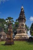 Phra, som Kong Khao Noi, den forntida stupaen eller chedien, som bevarar heliga Buddhareliker, lokaliserade i det Yasothon landsk Royaltyfri Fotografi