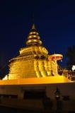Phra som Sri Jom läderrem för soluppgång, serie 1_2, guld- pagod Royaltyfria Bilder
