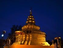 Phra som Sri Jom läderrem för soluppgång, serie 1_6, guld- pagod Royaltyfria Foton
