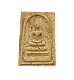 Phra Somdej,在白色的小菩萨图象 免版税库存图片