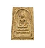 Phra Somdej, piccola immagine di Buddha su bianco Immagini Stock Libere da Diritti
