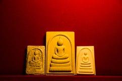 Phra somdej, Wat rakhangkhositaram, de gecreeerde geschiedenis van Wat Phra somdej Klok Phutthachan Somdet Phra Stock Afbeelding