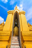 Phra Sri Rattana Chedi Temple of the Emerald Buddha. Located on the west Apti. Built in the reign of King Mongkut (Rama 4) Since the year 2398 by the royalty free stock photos