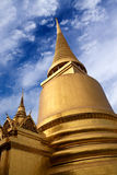 Phra Sri Rattana Chedi at Wat Phra Kaew Temple in Bangkok, Thail Royalty Free Stock Image