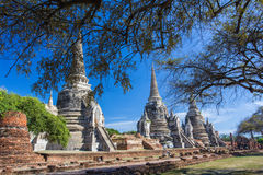 Phra Sri Sanphet temple in Ayutthaya, Thailand. Royalty Free Stock Photography
