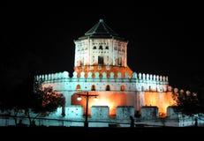 Phra Sumen Fort. Bangkok. Phra Sumen Fort by night. Bangkok. Thailand Stock Photography