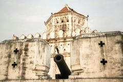 Phra Sumen Fort in Bangkok Stock Image