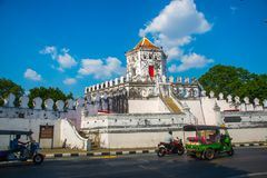 Phra Sumen Fort Bangkok, Thailand. The hexagonal-shape concrete fort built in the reign of King Rama I. Stock Image