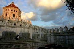 Phra Sumen fort & Santi Chai Prakan park zdjęcie stock