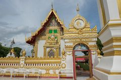 Phra Ten Phanom pagoda w Świątynnym Laotian stylu Chedi Obrazy Stock