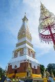 Phra Ten Phanom pagoda w Świątynnym Laotian stylu Chedi Obraz Royalty Free