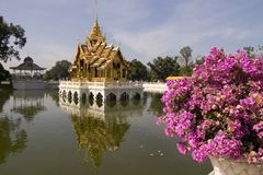 Phra Thinang Aisawan Thiphya. The Divine Seat of Personal Freedom in the Bang Pa-In Palace Thailand Royalty Free Stock Photography
