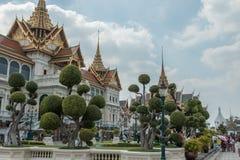 Phra Thinang Chakri Maha Prasat, il palazzo centrale nel grande palazzo a Bangkok, Tailandia, casa della famiglia reale tailandes fotografia stock libera da diritti