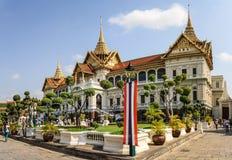 Phra Thinang Chakri Maha Prasat na terra grande do palácio, coração de Banguecoque, Tailândia fotos de stock