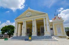 Phra Thinang Varobhas Biman, bostads- Hall, Ayuthaya, Thailan Royaltyfri Foto