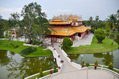 Phra Thinang Wehart Chamrun in Bang Pa-In royal summer residence Royalty Free Stock Photo