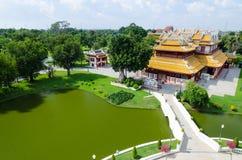 Phra Thinang Wehart Chamrun (königlicher Wohnsitz Stockfoto