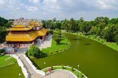 Phra Thinang Wehart Chamrun (königlicher Wohnsitz Lizenzfreies Stockfoto