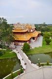 Phra Thinang Wehart Chamrun in koninklijke de zomerwoonplaats van de Klappijn Stock Foto's