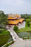 Phra Thinang Wehart Chamrun nella residenza reale di estate di dolore di colpo Fotografie Stock