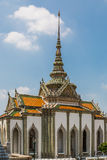 Phra Viharn Yod at Wat Phra Kaew. Phra Viharn Yod, also called the Porcelain Viharn, a depository of Buddhist learning, decorated with porcelain tiles at What stock image