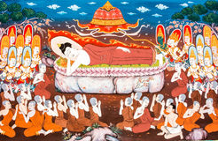 phrabahtseeroy Budha墙壁上的wat, chiangmai泰国 库存图片