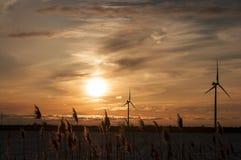 Turbina del mulino a vento Fotografie Stock