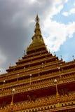 PHRAMAHATHAT KHANNAKHON of de tempel van Wat Nonwang of Nongwang- Royalty-vrije Stock Fotografie