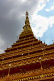 PHRAMAHATHAT KHANNAKHON eller Wat Nonwang eller Nongwang tempel Royaltyfri Fotografi
