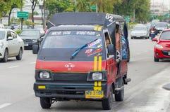 82 Phrapradaeng - market Bangpakok  mini Thai taxi Royalty Free Stock Photography