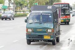 82 Phrapradaeng - market Bangpakok  mini Thai taxi Royalty Free Stock Image